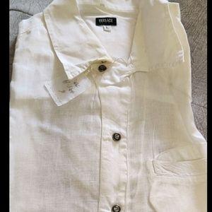 Versace Linen Short Sleeves Shirt